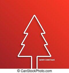 achtergrond., vector, boompje, moderne, kerstmis