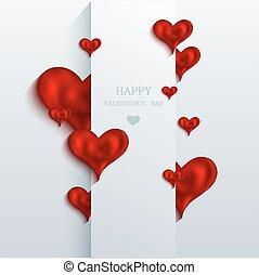 achtergrond., vector, eps10, dag, valentines