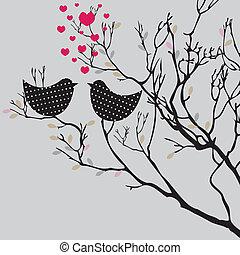 achtergrond., vector, illustratie, valentine