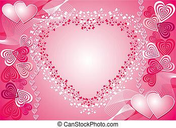 achtergrond, vector, valentijn