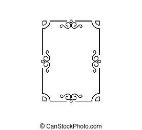achtergrond., vector, witte , frame, decoratief, kalligrafie, vrijstaand, decoratief