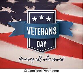 achtergrond., veteranen dag
