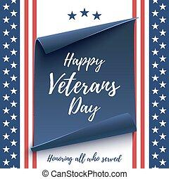 achtergrond., veteranen dag, vrolijke