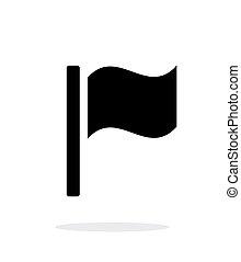 achtergrond., vlag, witte , pictogram