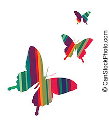 achtergrond, vlinder, witte