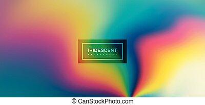achtergrond., vloeistof, iridescent, veelkleurig