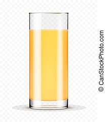 achtergrond, vrijstaand, sap, glas, sinaasappel, transparant