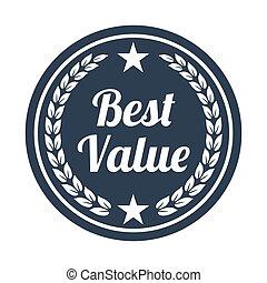achtergrond., witte , best, waarde, etiket