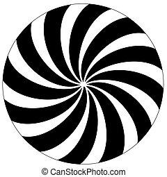 achtergrond., witte , black , hypnotic