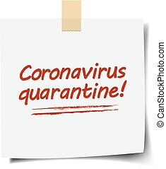 achtergrond, witte , coronavirus, tekst, merk papier op