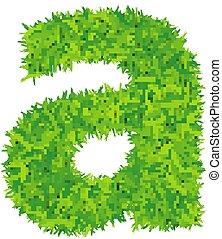 achtergrond., witte , gras, groene, brief