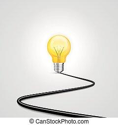 achtergrond., witte , lamp, contactdoos, macht