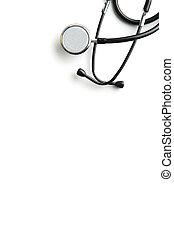 achtergrond., witte , stethoscope