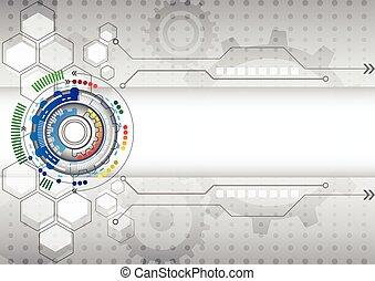 achtergrond, zakelijk, abstract, hoog, computer circuit, technologie, futuristisch