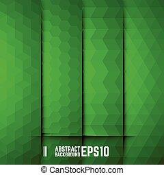 achtergronden, abstract, set, groene