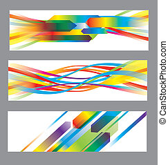 achtergronden, abstract, vector, set
