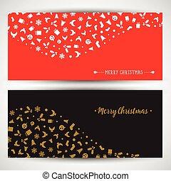 achtergronden, kerstmis, pictogram