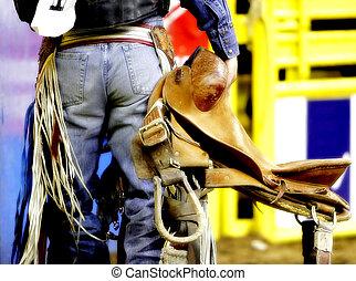 achterwerk, rodeo, cowboy