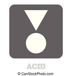 Acid conceptual graphic icon. Design language element,...