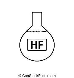 acid., laboratorio, hydrofluoric, vetro