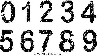Acid Numbers - Acid Etched Numbers