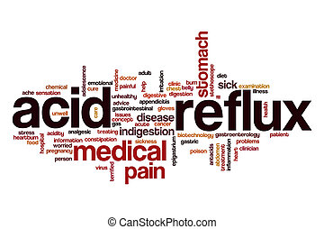 Acid reflux word cloud concept - Acid reflux word cloud