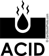 Acid vector icon isolated on white background