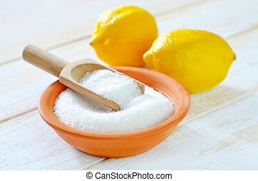 acide, citron