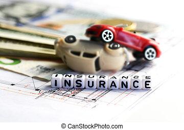 acidente, carros, dano, Contrato, Dinheiro, política, seguro