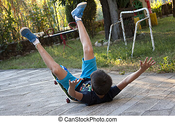 acidente, skateboard