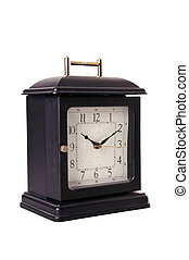 Acient clock isolate on white