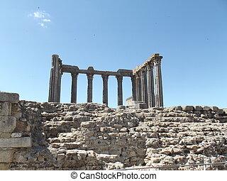 acient ruins -  acient columns,acien stones