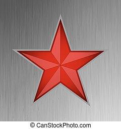acier, étoile, eps, arrière-plan., 8, rouges