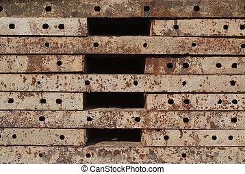 acier, béton, coulage, texture, blocks.
