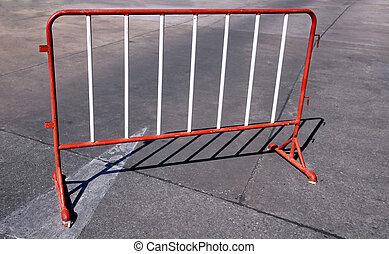 acier, barrière, peint, soudé, blanc rouge
