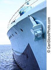 acier, bleu, bateau, fenêtre, fond