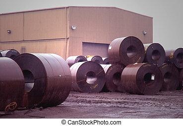 acier, bobine, entrepôt