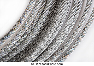 acier, bobines, close-up., corpulent, rope.