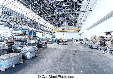 acier, bobines, entrepôt