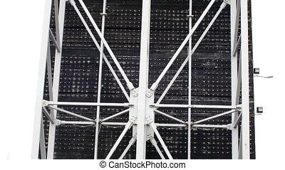 acier, cadre, site construction, structure