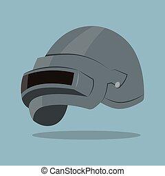 acier, casque, illustration