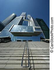 acier, gratte-ciel, centre affaires, 6, moscou, juin, verre, russie, béton, complexe, moscow-city, international, construction, 2010
