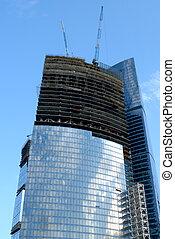 acier, gratte-ciel, centre affaires, moscou, béton, complexe, moscow-city, verre, international, construction, russie