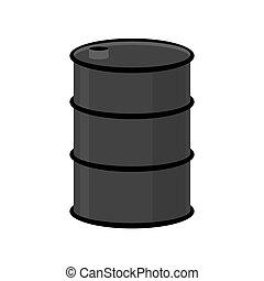 acier, huile, blanc, illustration, arrière-plan., vecteur, noir, baril, barrel.
