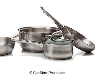 acier inoxydable, pots casseroles