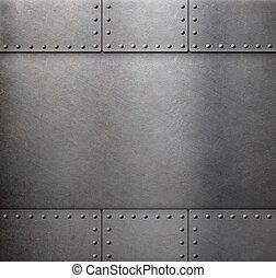 acier, métal, armure, fond