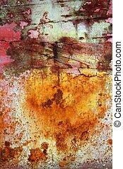 acier, oxydé, grunge, texture, peinture, rouillé, fer, vieilli