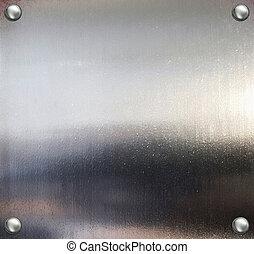acier, plaque, métal, arrière-plan.