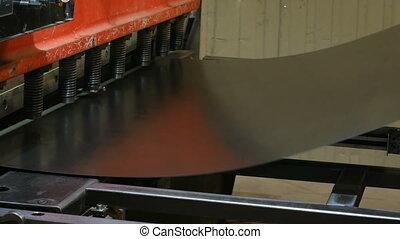 acier, plaque, machine, motifs, découpage, découpage