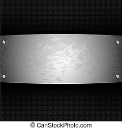 acier, plaque, vecteur, conception, ton